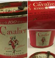 Vintage Collectible Cavalier King Size Cigarettes Tobacco Metal Tin Can   037-16
