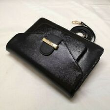 New Authentic Ted Baker Women Leather Patent Cross Hatch Cross Body Bag Black