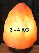 Lampada di Sale KG 3 - 4 Sale dell'Himalaya, salgemma ,GREZZA100% NATURALE