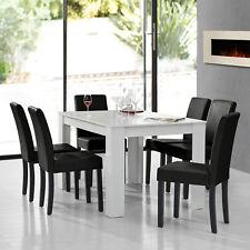 À Manger Blanc avec 6 Chaises Noir [140x90] Table Chaises Salle à Manger