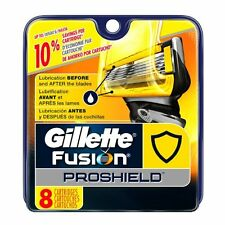 Gillette Fusion ProShield Refill Razor Blades, 8 Cartridges NEW for Men