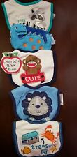 New listing Baby Blue animal and Dino bibs 5 Pack