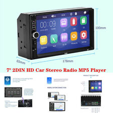 """7"""" 2DIN HD Touch Screen Car Stereo Radio MP5 Player Bluetooth USB Apple Android"""