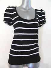 Rockabilly Striped Regular Size Tops for Women