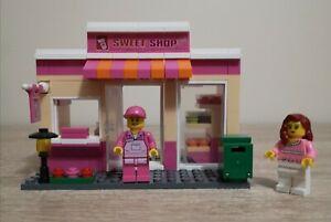 """Building Blocks Set """"Sweet Shop"""" + 2 Figurines. 170+ Pieces. Read Description."""