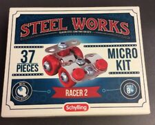 Schylling Steel Works Construction Micro Set Kit 37 pcs Racer 2 ages 8+ Sealed
