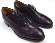 Johnston Murphy Shoes Size 9 Brown Wingtip Mens D/B Width Medium Standard Shoe