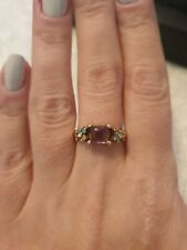 14k Russian Yellow Gold. Amethyst and  Topaz Ring. Size M.