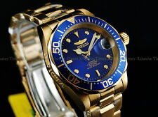 Invicta Men PRO DIVER SUBMARINER Scalloped Bezel Automatic Gold Tone SS Watch