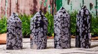 Natural Snowflake Obsidian Crystal Quartz Tower Point,Obsidian Crystal Point