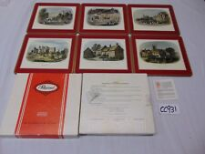 New listing 6 Vintage Pimpernel Acrylic Place Mats Castle-Shakespeare-Englan d- Warwickshire