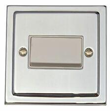 G&H TC69W Trimline Polished Chrome 1 Gang Triple Pole 10A Fan Isolator Switch