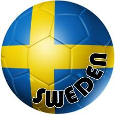 decal sticker worldcup car bumper flag team soccer ball foot football sweden