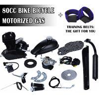 Black 80cc Bike Bicycle DIY Motorized 2 Stroke Petrol Gas Motor Engine Kit Set