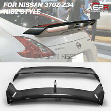 For Nissan 370z z34 09-17 NISM2 Style Carbon Fiber Rear Trunk Spoiler Wing Lip