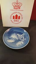 Bing & Grondahl B&G Collector Plate Denmark Mother's Day 1971 Cat Kitten ltd box