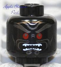 NEW Lego Ninjago Black Garmadon MINIFIG HEAD w/Red Eyes -Halloween Monster Devil