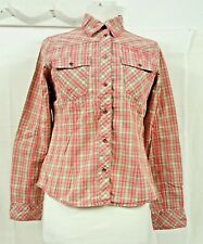 O'Neill Pink Checked Embroidered Shirt UK Size M