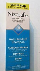Nizoral A-D Anti-Dandruff Shampoo value size 1 7 oz &1 4 oz bottle exp 11/22