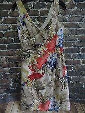 Tommy Bahama Women's Summer Dress Size 4 100% Silk Aloha Hawaiian Floral