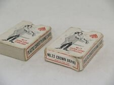 Vtg Miniature Deck No 23 Crown Brand Playing Cards made in Hong Kong lot of 2