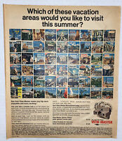 Vintage 1965 Sawyer's View Master Print AD For Travel Reels Free Shipping
