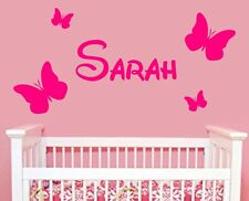 Personalised LARGE Name disney font Butterfly Girls/Kids Bedroom Vinyl Sticker