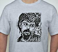 Pigpen Grateful Dead Hand printed t shirt 60's Vintage Style Rock S-5Xlg ash