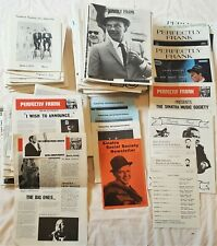 "Frank Sinatra fanzine collection ""Perfectly Frank"" etc."