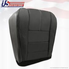 2010 Ford F-250 F-350 Lariat Driver Replacement Bottom Leather Seat Cover-Black