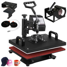 5 IN 1 Heat Press Machine Swing Away(PLATE, MUG,T-SHIRT) Sublimation Transfer