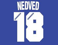 NEDVED #18 LAZIO 1996-1997 Away Maglietta da calcio Nameset per
