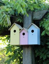 x 3 petit en bois nidification Oiseau Boite Maison ROBIN Bleu seins Sparrow