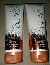 Bath & Body Works At The Beach 24 Hour Moisture Ultra Shea Body Cream x 2