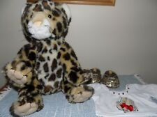 Build A Bear Leopard Cat Plush Glittery Shoes, T Shirt