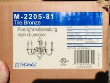 *NEW* Thomas Lighting M-2005-81Chandelier Collection Tile Bronze Williamsburg 5