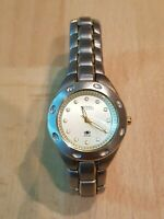 Fossil Blue AM-3304 Women's Watch Analog Dial Silver Tone Case 100M/330FT WR