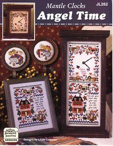 cross stitch pattern - Mantle Clocks - Angel Time