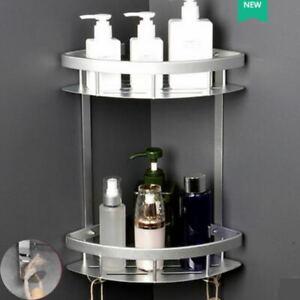 Rust Free 2 Tier Corner Bathroom Shower Caddy Organiser Tidy Basket Rack Shelf
