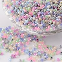 LOT 1000 PERLES DE ROCAILLE MULTICOLORE PASTEL Ø 2 mm 12/0 CREATION BIJOUX