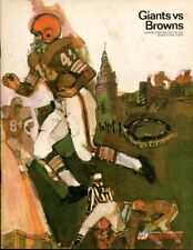 1967 New York Giants v Cleveland Browns Program 10/29 Yankee Stadium Ex/MT 44485