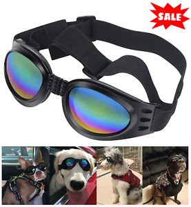 Dog Sunglasses Dog Goggles with Adjustable Strap for Small to Medium Breed