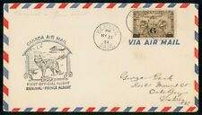 Canada First Flight 1934 Cover Beauval Sask To Prince Albert