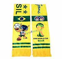 2014 Brasil Scarf Set 2 Bufandas Mascot fuleco Copa del Mundo de Fútbol de