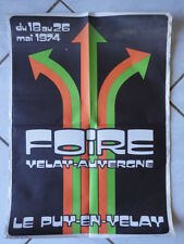 AFFICHE FOIRE VELAY AUVERGNE 1974