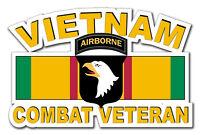 """Vietnam 101st Airborne Div Combat Veteran 5.5"""" Window Sticker Decal"""