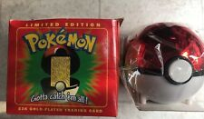 Pokemon 23K Togepi Gold Plated Card Poké Ball Pokémon Gift Collectible