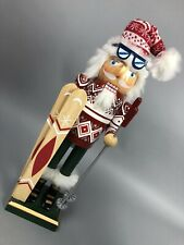 Skiing Christmas Nutcracker Clever Creations Traditional Collectible Wooden Gift