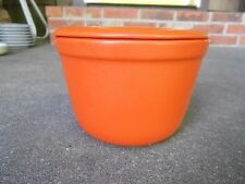Oxford Ware Uranium Orange Covered SERVING MIXING BOWL and LID USA  Mid Century