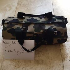 bape a bathing ape camo duffle bag
